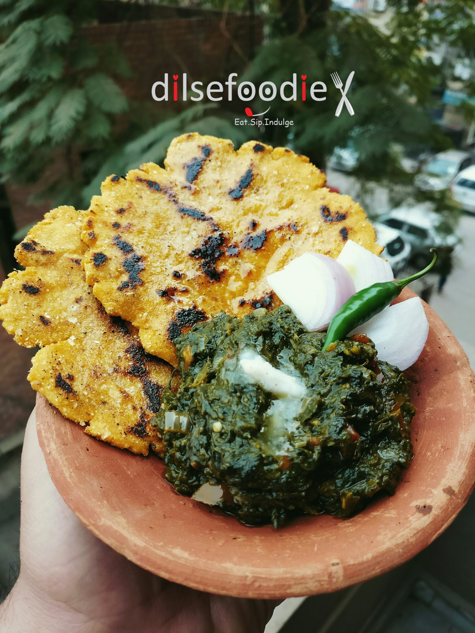 Makki di roti sarso da saag dil se foodie winters special makki di roti and sarso da saag being punjabi its my duty to make this every winters so today i made it many people make this with forumfinder Choice Image